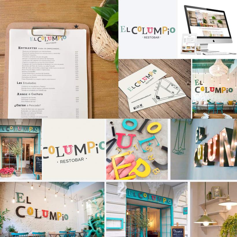 Identidad Corporativa El Columpio restaurante/ Madrid 0