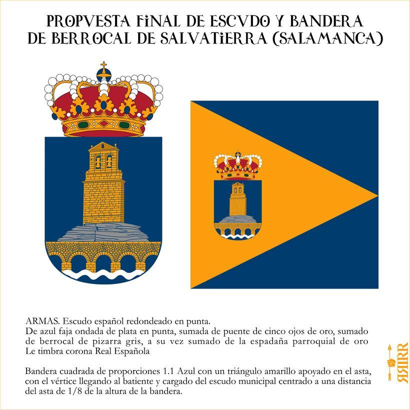 Escudo y Bandera de Berrocal de Salvatierra (Salamanca) -1