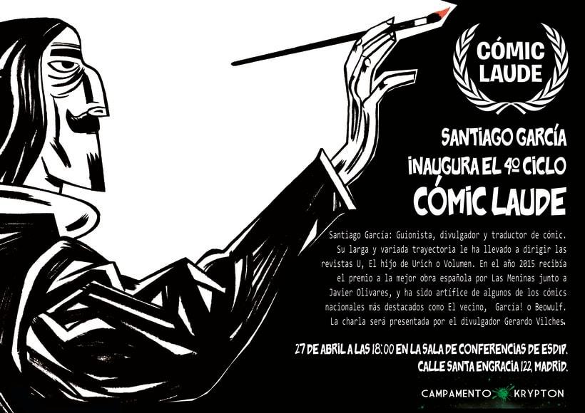Santiago García inicia el ciclo de conferencias  Cómic Laude 1