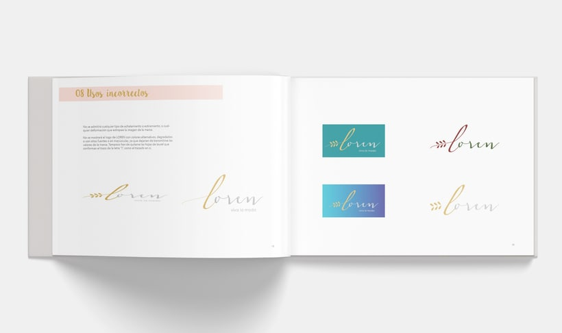 Manual Corporativo de Loren (marca ficticia) 8