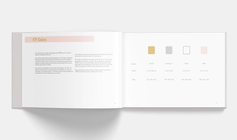 Manual Corporativo de Loren (marca ficticia) 9