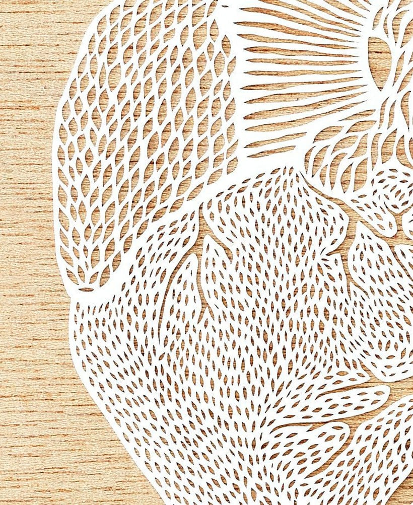 Los órganos vitales tallados en papel de Ali Harrison 8
