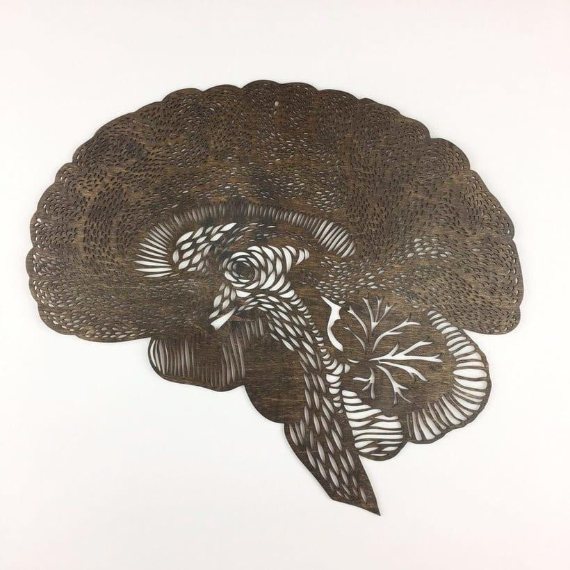 Los órganos vitales tallados en papel de Ali Harrison 13