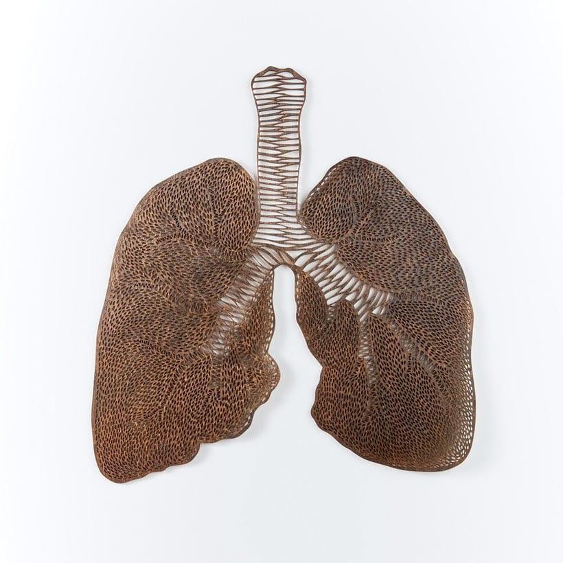 Los órganos vitales tallados en papel de Ali Harrison 15