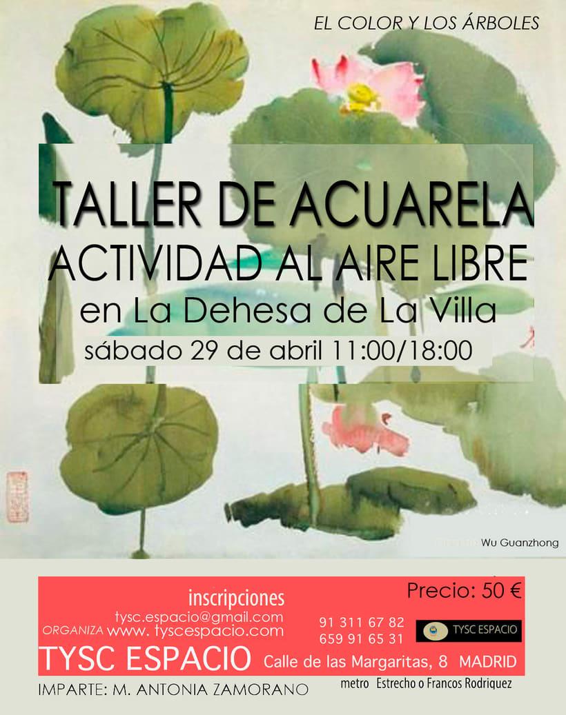 TALLER DE ACUARELA-Sábado 29 de ABRIL, 2017 (en la naturaleza, La Dehesa de la Viila, un bosque en el centro de Madrid) 1