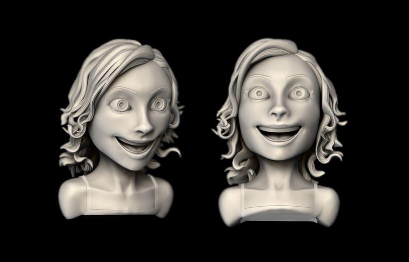 Happy - Mi Proyecto del curso: Modelado de personajes en 3D 2