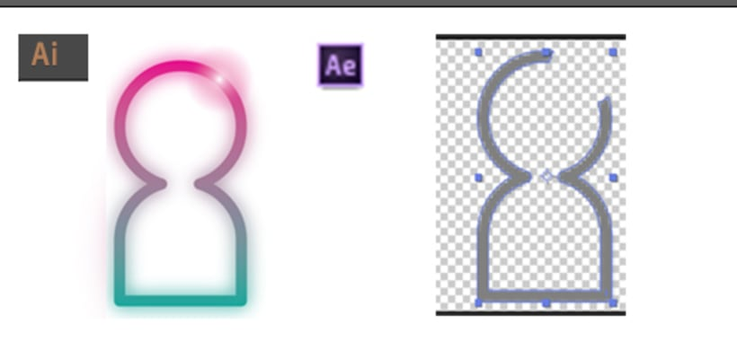Importar gráficos con efectos de AI a AE 1