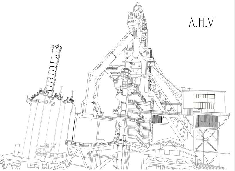 Industrial heritage from Bilbao illustrations / Ilustraciones del patrimonio industrial de Bilbao 1