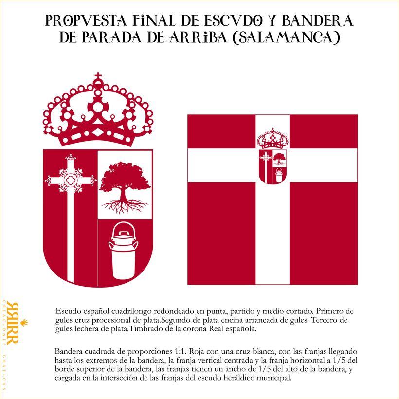 Escudo y bandera de Parada de Arriba (Salamanca) 0