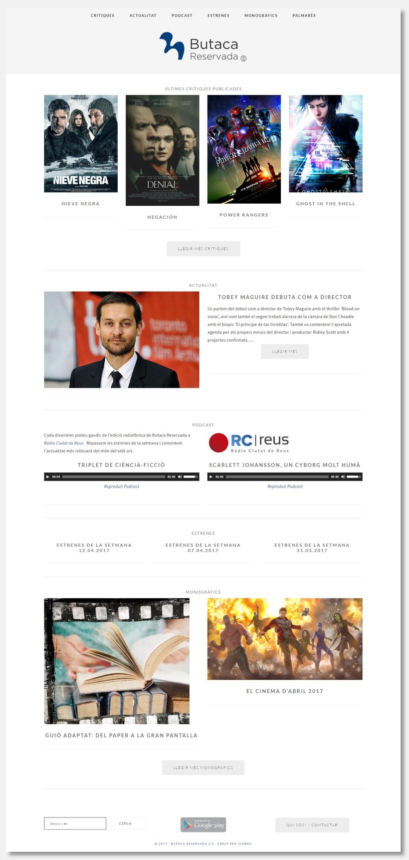 Diseño y desarrollo web para Butaca Reservada 3