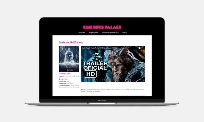 Diseño y desarrollo web para Cine Reus Palace 1