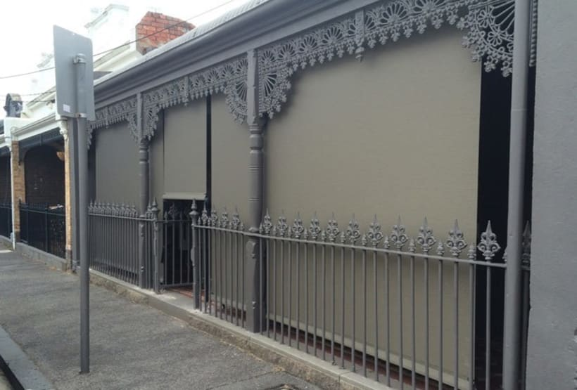 Outdoor Straight Drop Awnings Melbourne -1