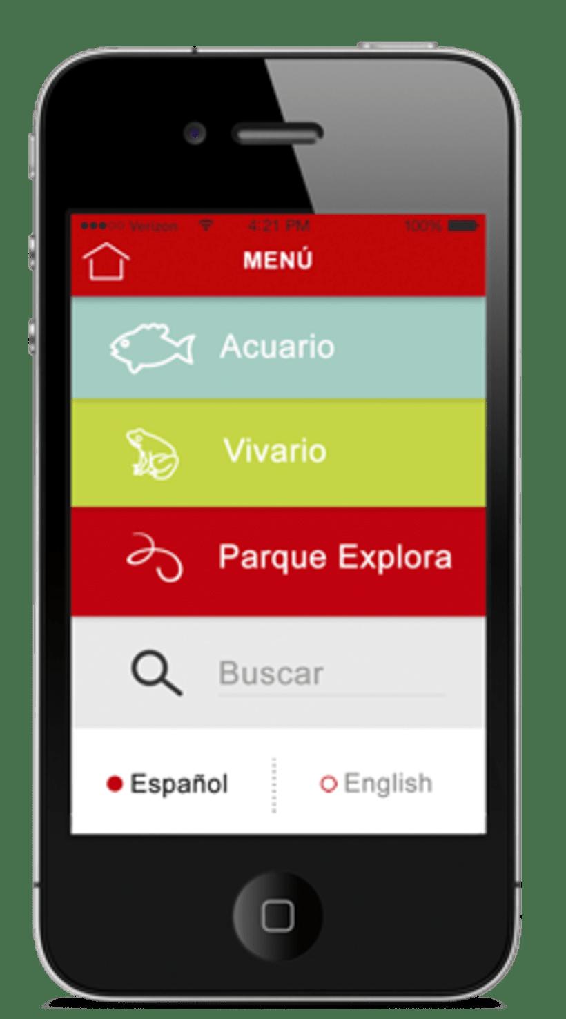 App Acuario Parque Explora 2