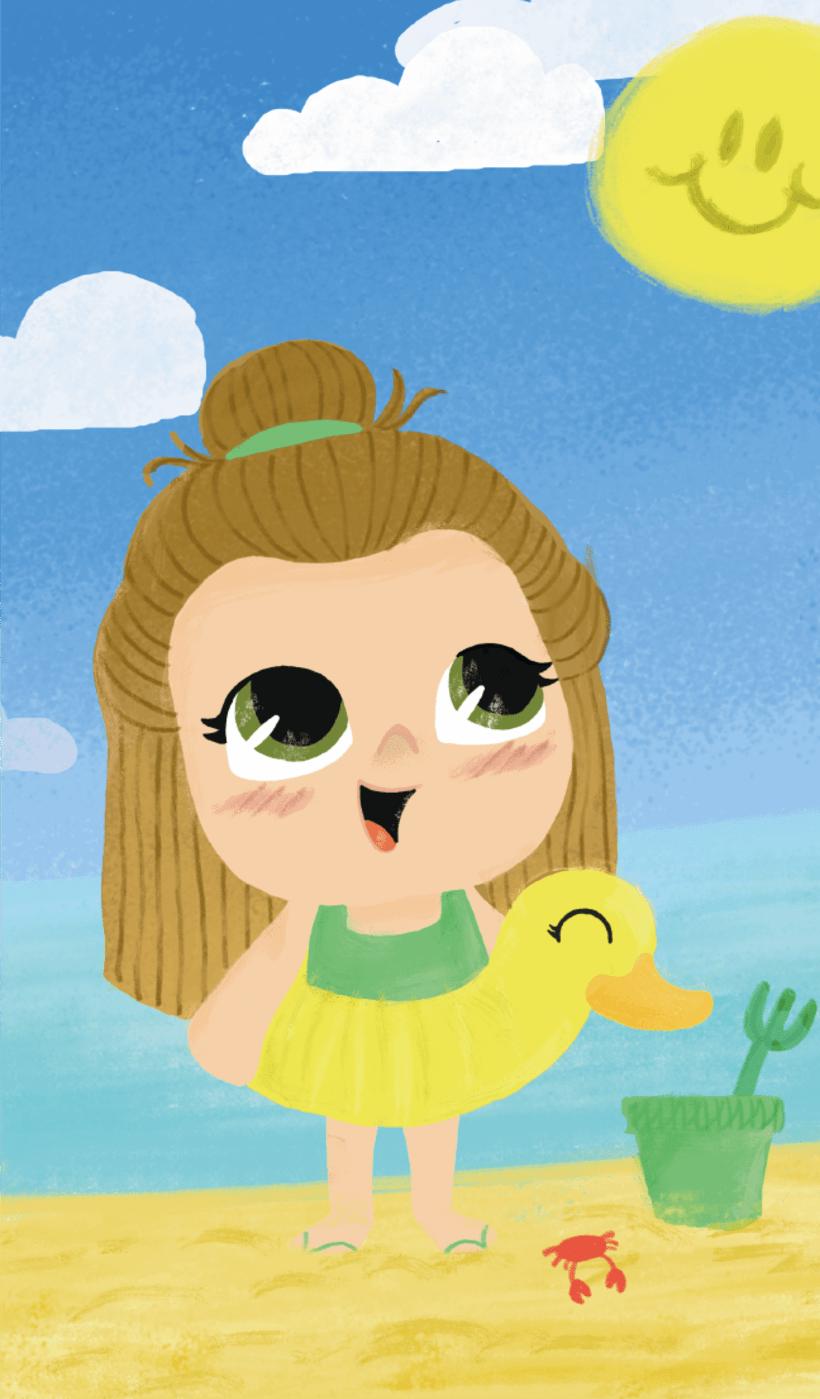 Ilustraciones niñas 4