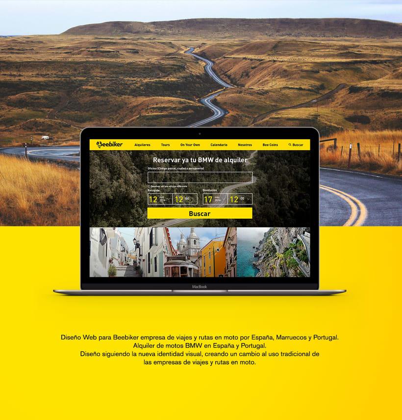 Beebiker - Website design -1
