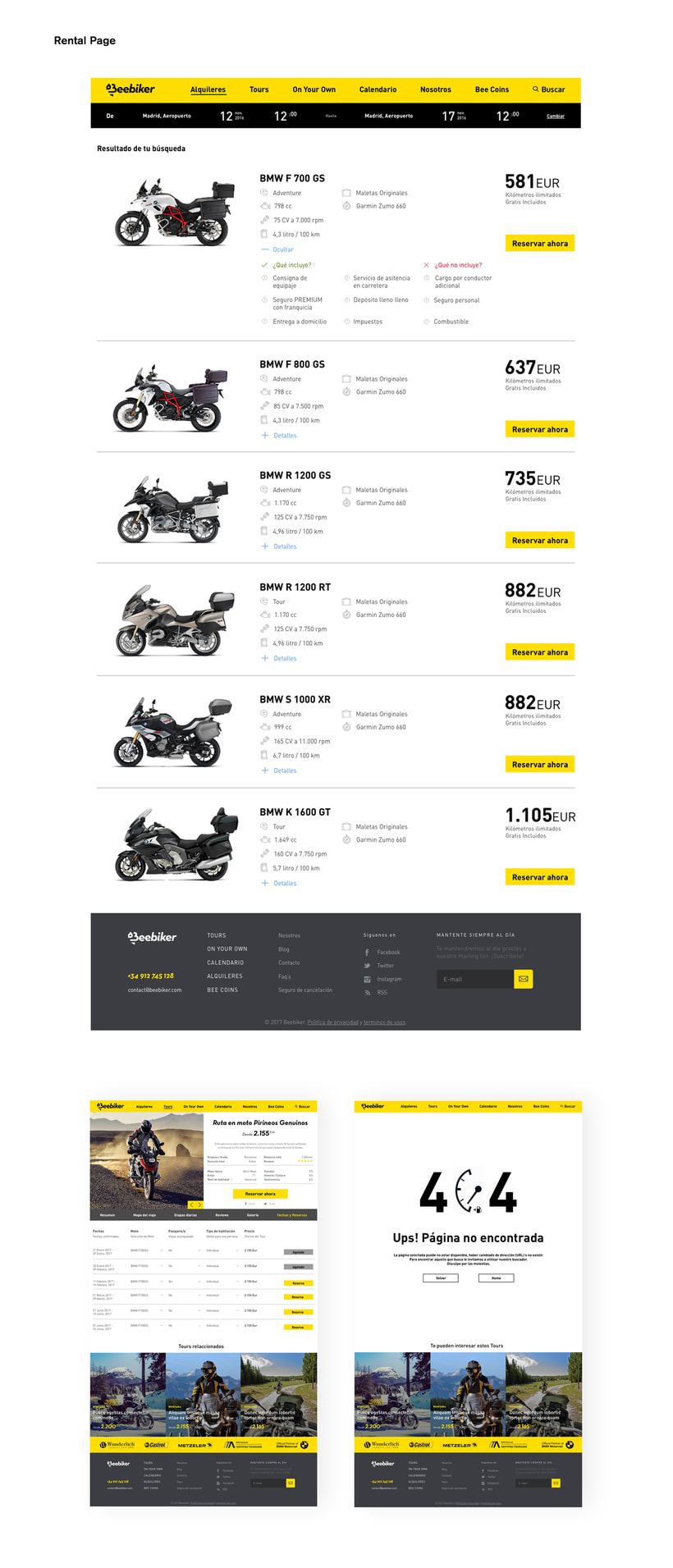 Beebiker - Website design 1