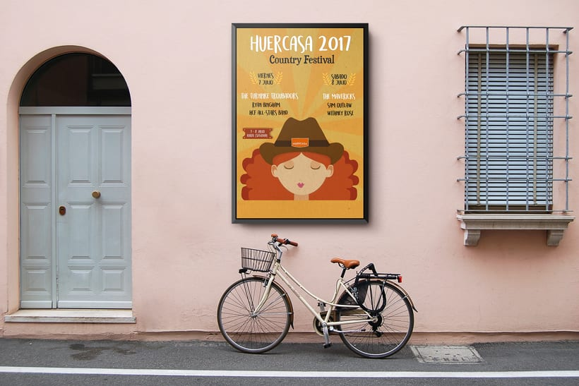 Propuesta de cartel para el concurso del festival HUERCASA FESTIVAL 2017 0