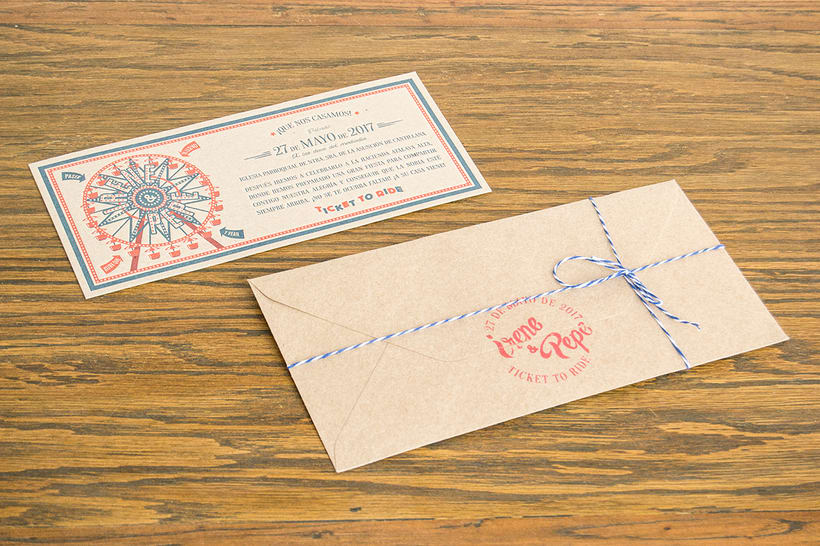 Invitaciones de boda para Irene y Pepe 0