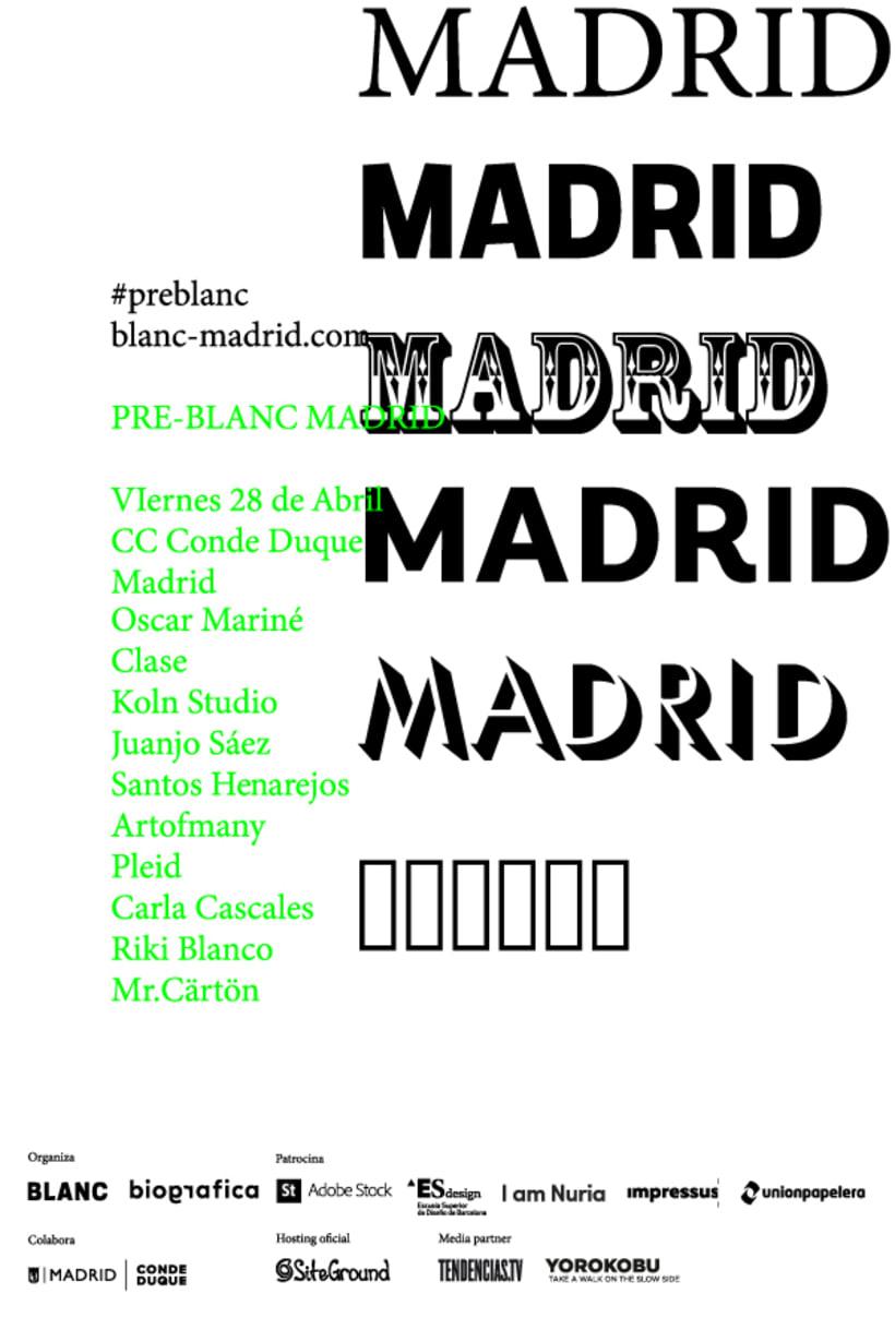 BLANC-MADRID | Conferencias Diseño Gráfico | 28 Abril 1