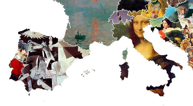 El arte más representativo de Europa en un mapa 5