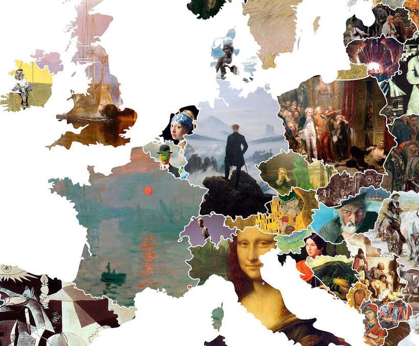 El arte más representativo de Europa en un mapa 10