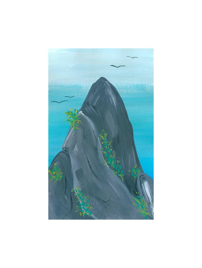 Rocas en el ancho mar... 0