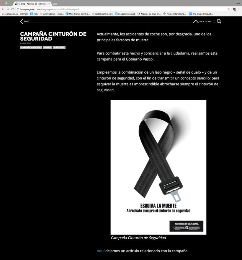 Redacción en el blog de la Agencia de Ideas ILOVEYOU 4