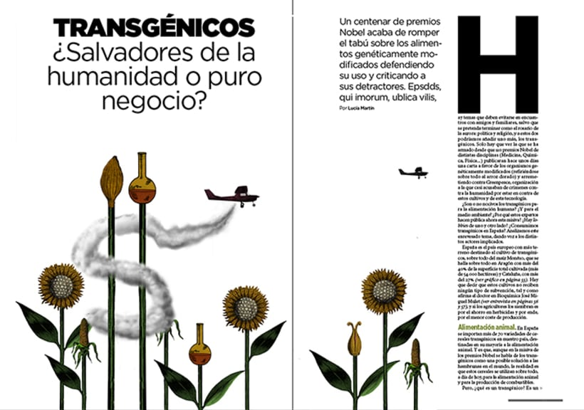 Ilustraciones para la revista TIEMPO 2