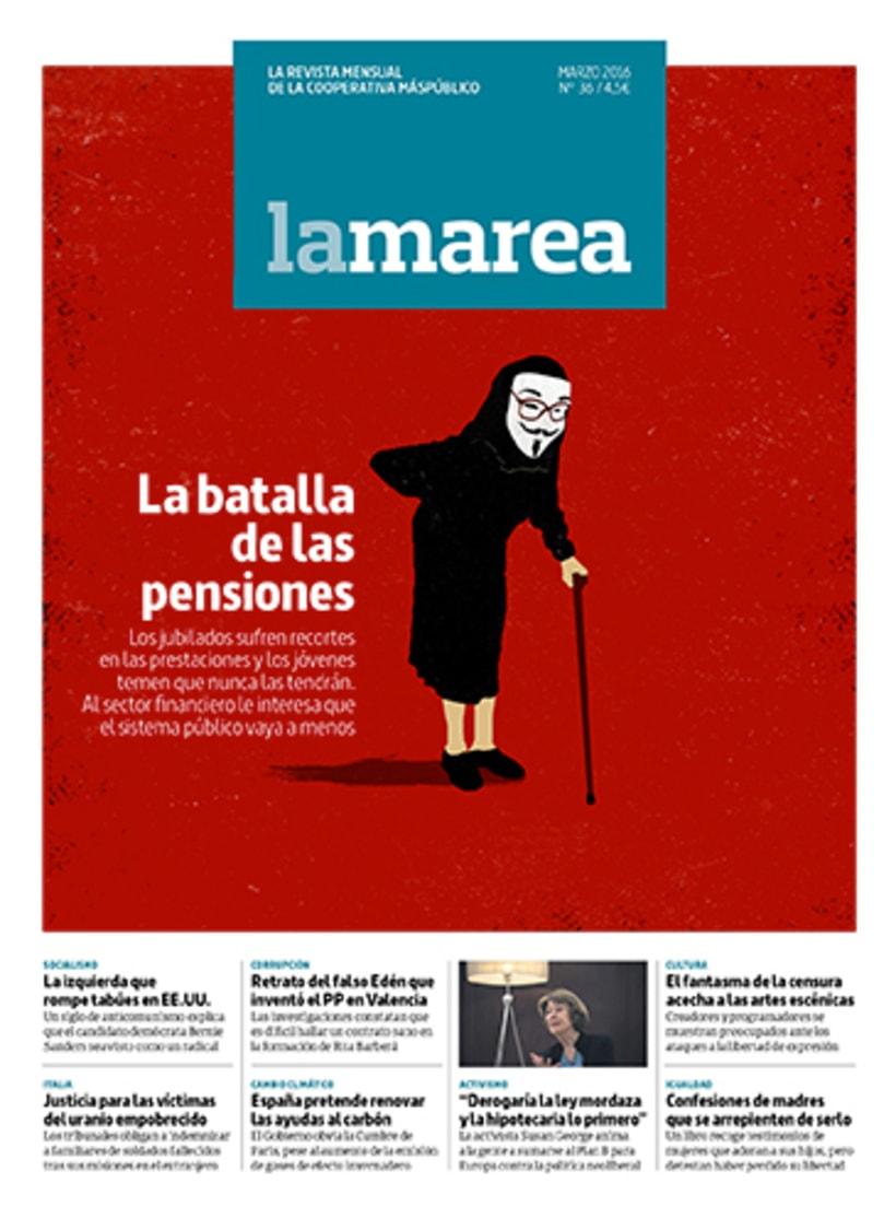 Portadas, El País, revista El Ciervo, La Marea, Diario Sur, Le Cool 2