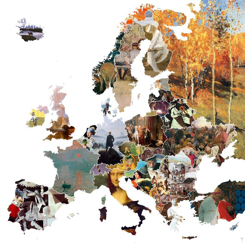 El arte más representativo de Europa en un mapa 1