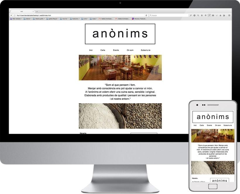 Disseny web :: restaurant anònims 0