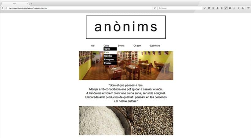 Disseny web :: restaurant anònims 1