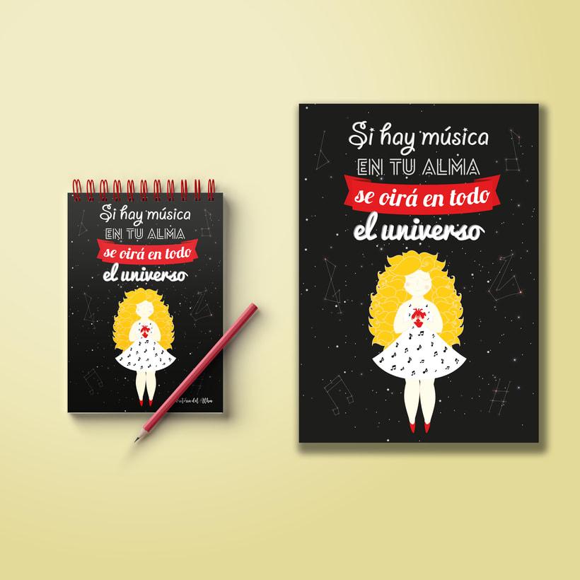 Ilustración Música y universo 0