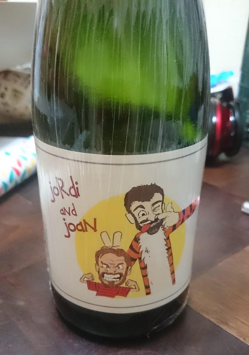 Ilustración para etiquetas bebida celebración de particulares -1