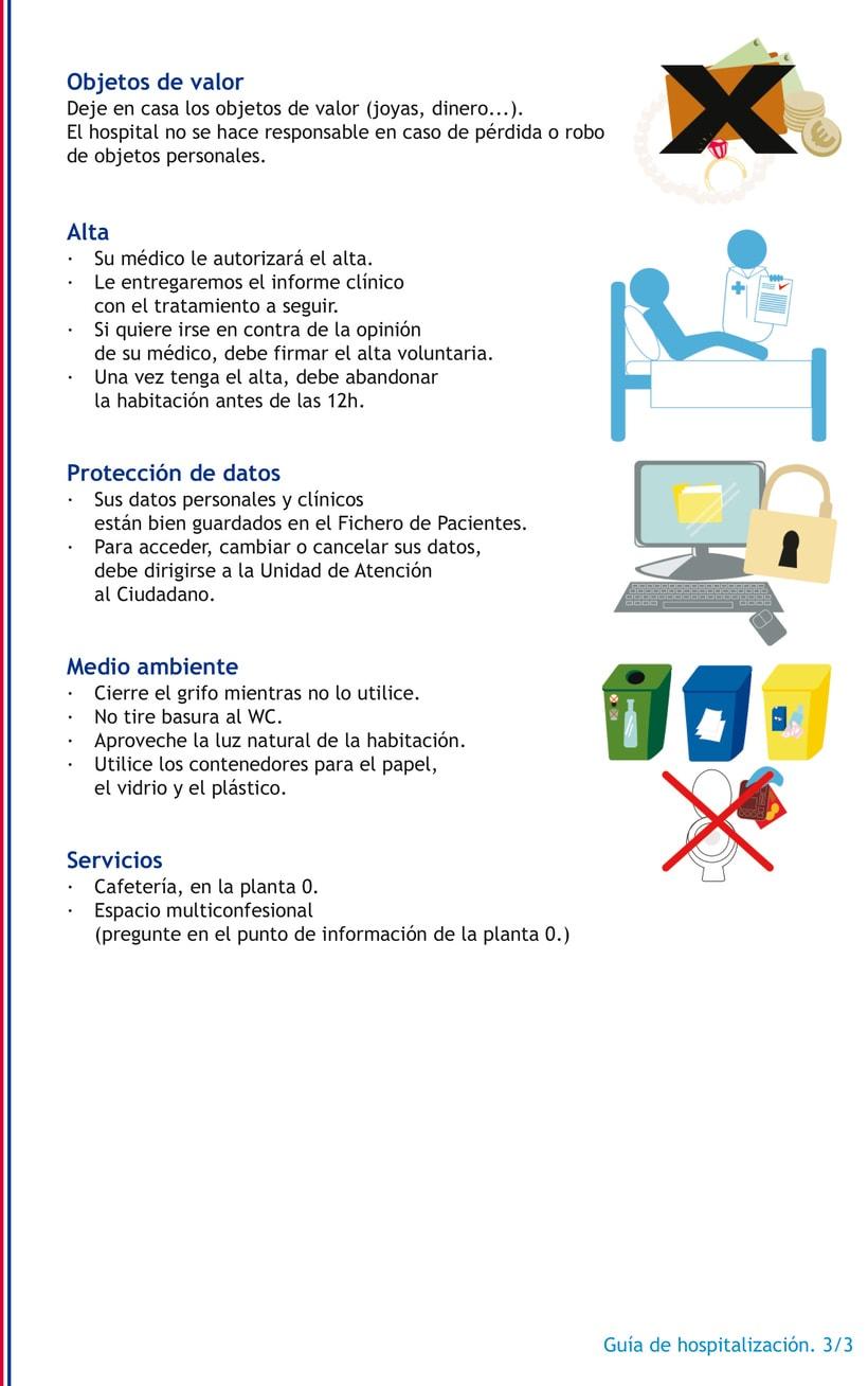 Ilustraciones para guía hospitalaria 2