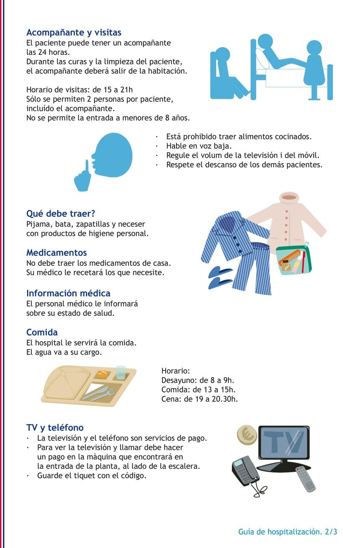 Ilustraciones para guía hospitalaria 1