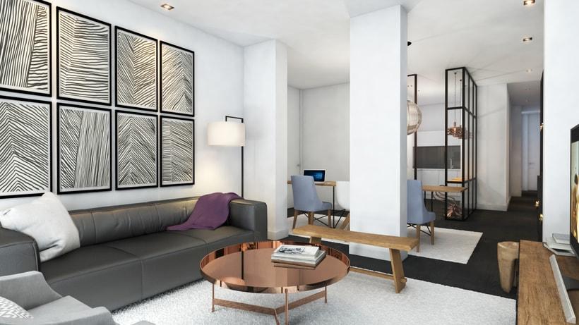 Diseño de vivienda para alquiler vacacional en Madrid Centro. 2
