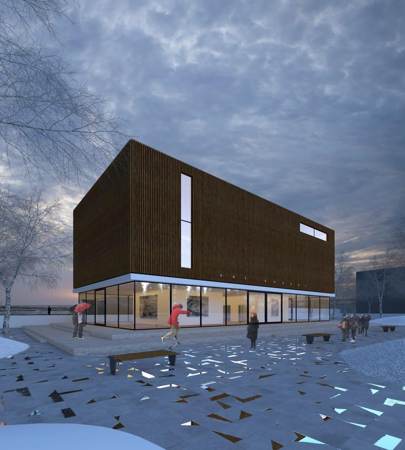 3D Edificio exterior 1
