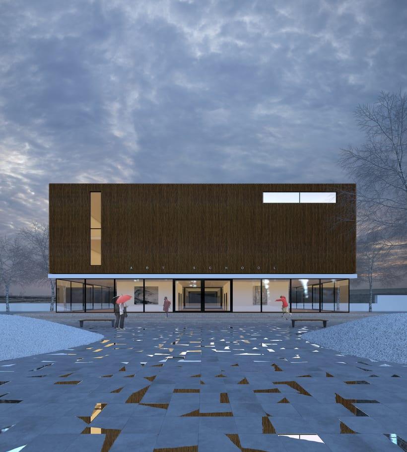 3D Edificio exterior 2