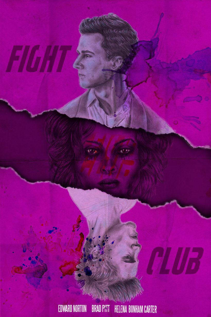 Mi Proyecto del curso: Poster Fight Club -1