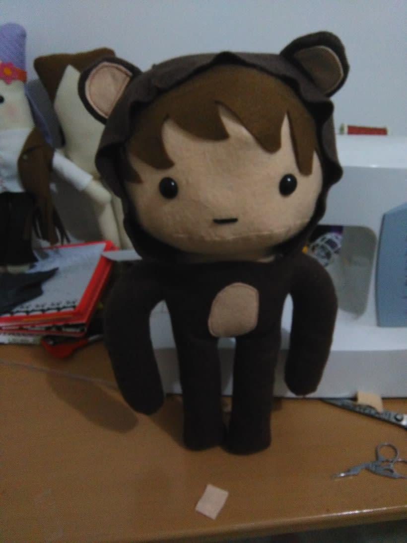 Mi Proyecto del curso: Textile Toys: diseño y creación de personajes en tela -1