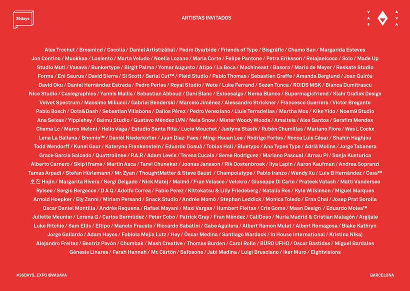 36 Days of Type: la exposición 8
