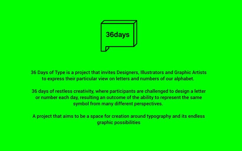 36 Days of Type: la exposición 1