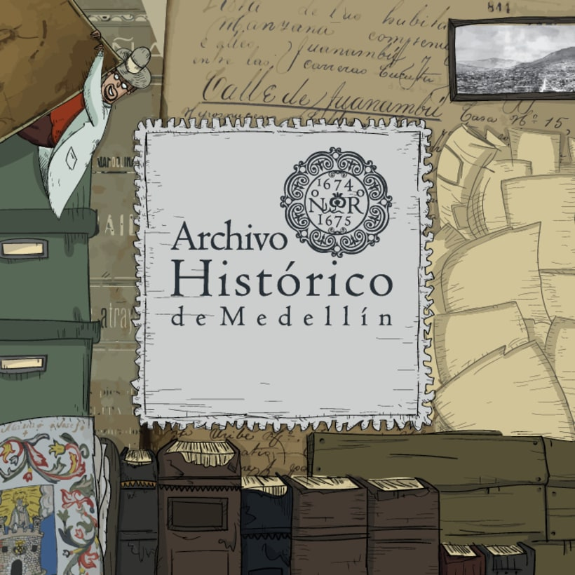 Mural Archivo Histórico de Medellín 1