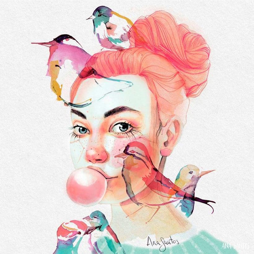 Ana Santos ilustra la feminidad en estado puro 1