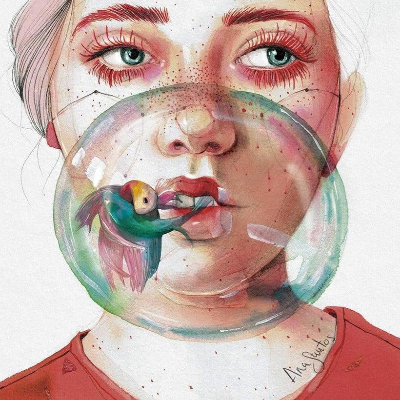 Ana Santos ilustra la feminidad en estado puro 3