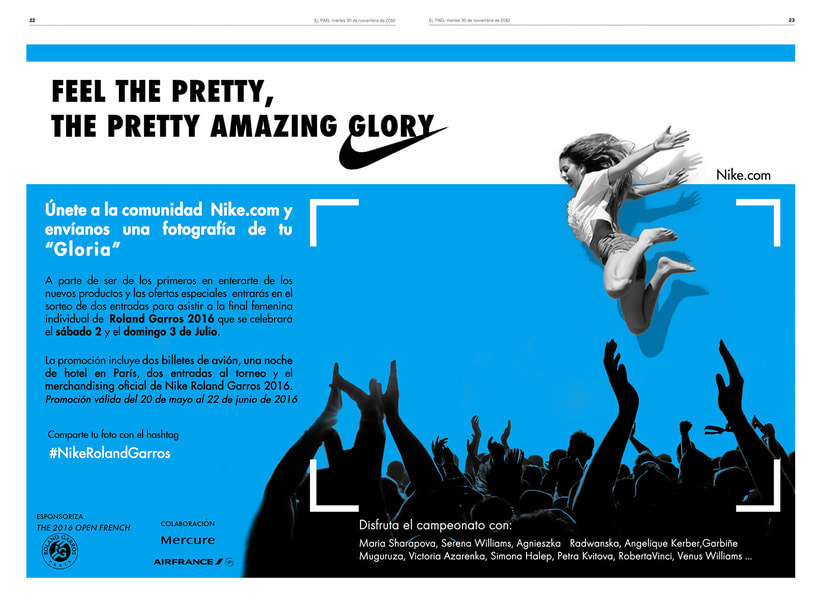 """Advertising campaing NIKE : """"Feel the pretty amazing glory"""" 0"""