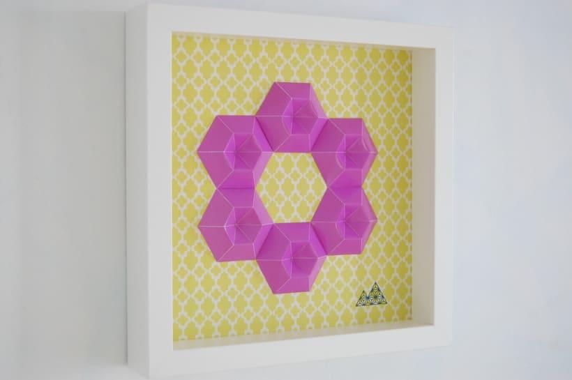 Violeta: arte 3D en papel 1
