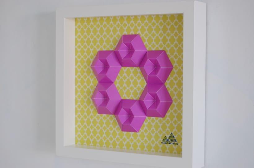 Violeta: arte 3D en papel 4