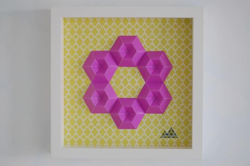 Violeta: arte 3D en papel 5